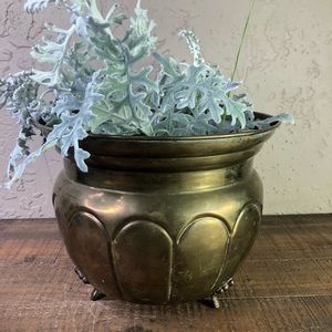 Gatco vintage solid brass footed planter